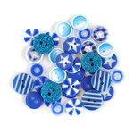 Queen and Company - Button Bouquet II - Blue