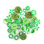 Queen and Company - Button Bouquet II - Green