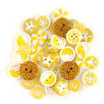 Queen and Company - Button Bouquet II - Yellow