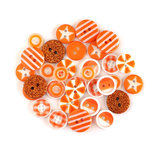 Queen and Company - Button Bouquet II - Orange