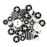 Queen and Company - Button Bouquet II - Black