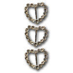 Queen and Company - Bling - Jeweled Ribbon Buckles - Sparkle Heart, CLEARANCE