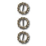 Queen and Company - Bling - Jeweled Ribbon Buckles - Sparkle Round