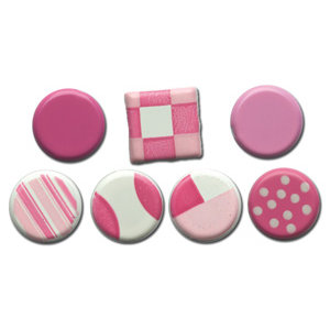Queen and Company - Color Block Brads - Pinks, CLEARANCE