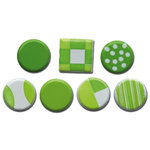 Queen and Company - Color Block Brads - Greens, CLEARANCE