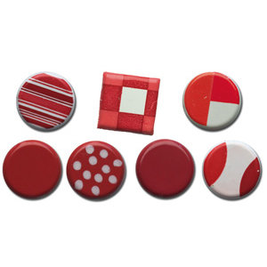 Queen and Company - Color Block Brads - Reds, CLEARANCE