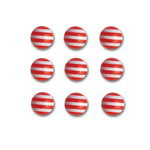 Queen and Company - Candy Shoppe Collection - Self Adhesive Candy Stripers - Round - Cherry Bomb