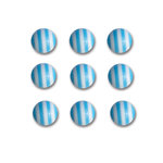 Queen and Company - Candy Shoppe Collection - Self Adhesive Candy Stripers - Round - Blueberry Bliss