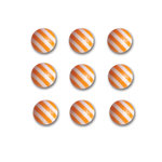 Queen and Company - Candy Shoppe Collection - Self Adhesive Candy Stripers - Round - Orange Crush