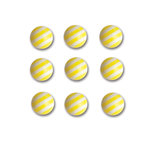 Queen and Company - Candy Shoppe Collection - Self Adhesive Candy Stripers - Round - Lemon Drop