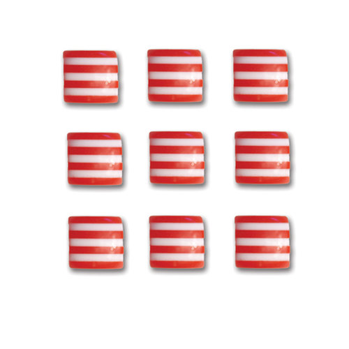 Queen and Company - Candy Shoppe Collection - Self Adhesive Candy Stripers - Square - Cherry Bomb