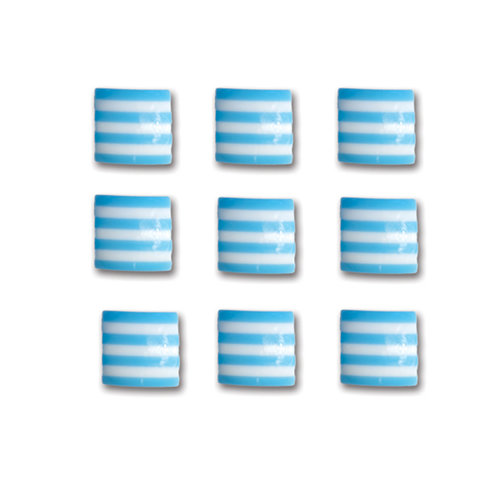 Queen and Company - Candy Shoppe Collection - Self Adhesive Candy Stripers - Square - Blueberry Bliss
