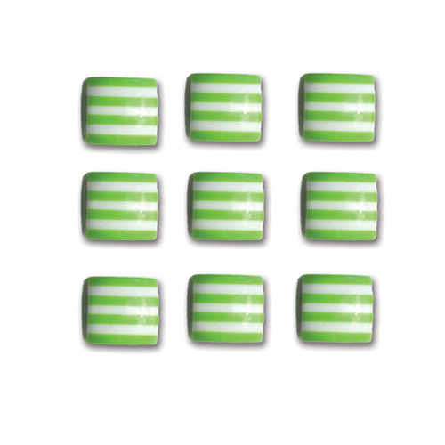 Queen and Company - Candy Shoppe Collection - Self Adhesive Candy Stripers - Square - Kiwi Kiss