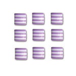 Queen and Company - Candy Shoppe Collection - Self Adhesive Candy Stripers - Square - Grape Ape