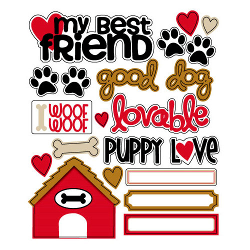 Queen and Company - Pets Collection - Chipboard Pieces