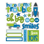 Queen and Company - Kids Collection - Chipboard Pieces - Boy