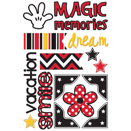 Queen and Company - Magic Collection - Self Adhesive Chipboard Stickers - Magic