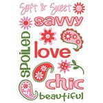 Queen and Company - Self Adhesive Chipboard Stickers - Girl
