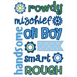 Queen and Company - Self Adhesive Chipboard Stickers - Boy