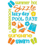 Queen and Company - Self Adhesive Chipboard Stickers - Summer