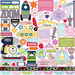 Queen and Company - Magic Collection - 12 x 12 Cardstock Stickers - Clubhouse