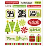 Queen and Company - Christmas Collection - Cardstock Stickers