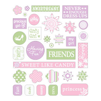 Queen and Company - Kids Collection - Cardstock Stickers - Girl