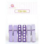 Queen and Company - Clip Ups - Purple