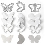 Queen and Company - Shaker Shape Kit - Butterflies