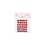 Queen and Company - Bling - Self Adhesive Rhinestones - Diamonds - Red