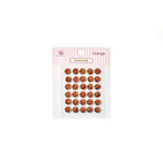 Queen and Company - Bling - Self Adhesive Rhinestones - Diamonds - Orange
