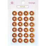 Queen and Company - Bling - Self Adhesive Rhinestones - Donuts - Orange