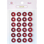 Queen and Company - Bling - Self Adhesive Rhinestones - Donuts - Red