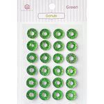 Queen and Company - Bling - Self Adhesive Rhinestones - Donuts - Green