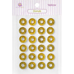Queen and Company - Bling - Self Adhesive Rhinestones - Donuts - Yellow
