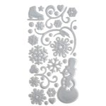 Queen and Company - Epoxy Icons - Snow 'n Skate Silver
