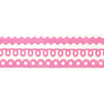 Queen and Company - Self Adhesive Felt Fusion Border - Mini - Pink