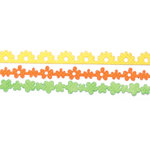 Queen and Company - Self Adhesive Felt Fusion Border - Mini - Flowers 3