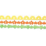 Queen and Company - Self Adhesive Felt Fusion Border - Mini - Flowers 3