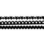 Queen and Company - Self Adhesive Felt Fusion Border - Mini - Black Velvet