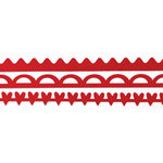 Queen and Company - Self Adhesive Felt Fusion Border - Mini - Red Velvet