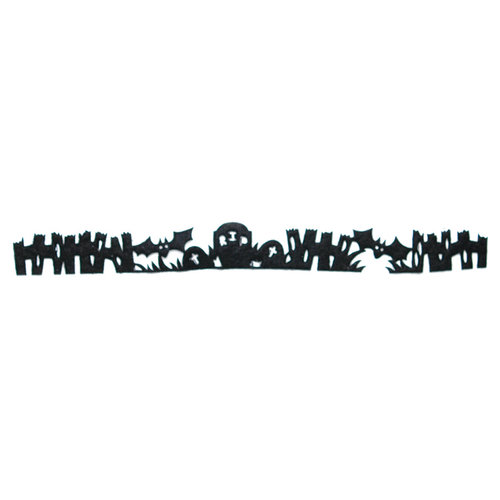Queen and Company - Self Adhesive Felt Fusion Border - Graveyard - Black