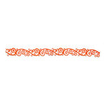 Queen and Company - Self Adhesive Felt Fusion Border - Scroll - Orange