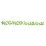 Queen and Company - Self Adhesive Felt Fusion Border - Scroll - Lime Green