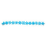 Queen and Company - Self Adhesive Felt Fusion Border - Christmas - Snowflake - Light Blue