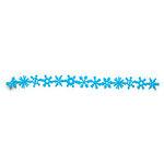 Queen and Company - Self Adhesive Felt Fusion Border - Christmas - Snowflake - Light Blue