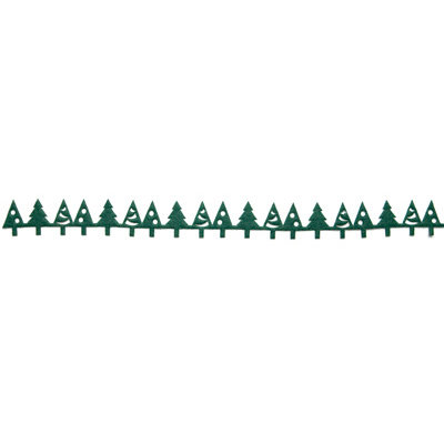 Queen and Company - Self Adhesive Felt Fusion Border - Christmas Tree - Green