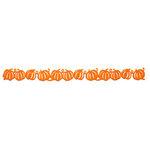 Queen and Company - Self Adhesive Felt Fusion Border - Halloween - Pumpkin - Orange