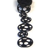 Queen and Company - Self Adhesive Felt Fusion Ribbon - 1.6 Inches - Soccer - Black