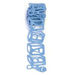 Queen and Company - Self Adhesive Felt Fusion Ribbon - 1.6 Inches - Blocks - Blue